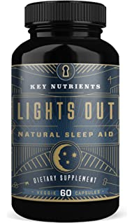 KEY NUTRIENTS Natural Sleep Aid, LIGHTS OUT Contains Melatonin, Valerian, Passion Flower,