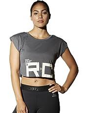 Reebok Combat Spraydye Crop tee Camiseta, Mujer