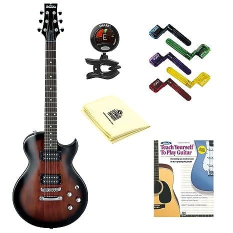 Ibanez gart60 guitarra eléctrica en oscuro violín Sunburst con gamuza de limpieza, pegwinders, sintonizador