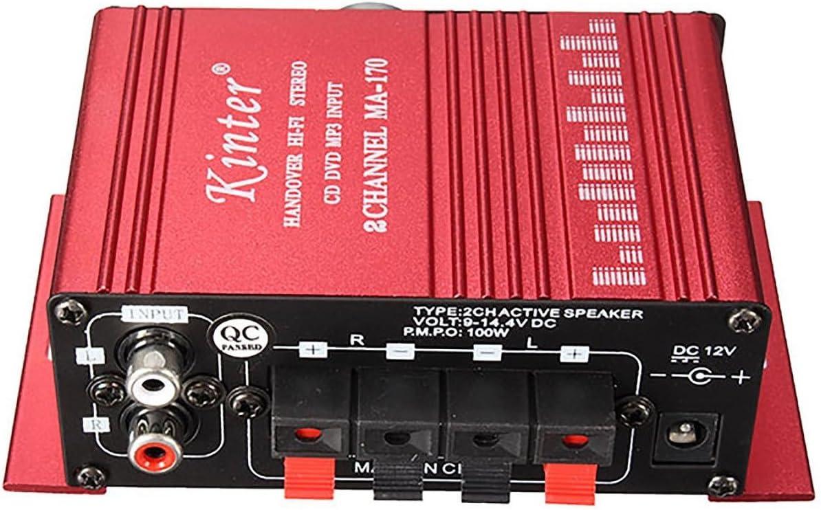 Amplificador de audio - SODIAL(R)12V Mini Hi-Fi Amplificador de ...