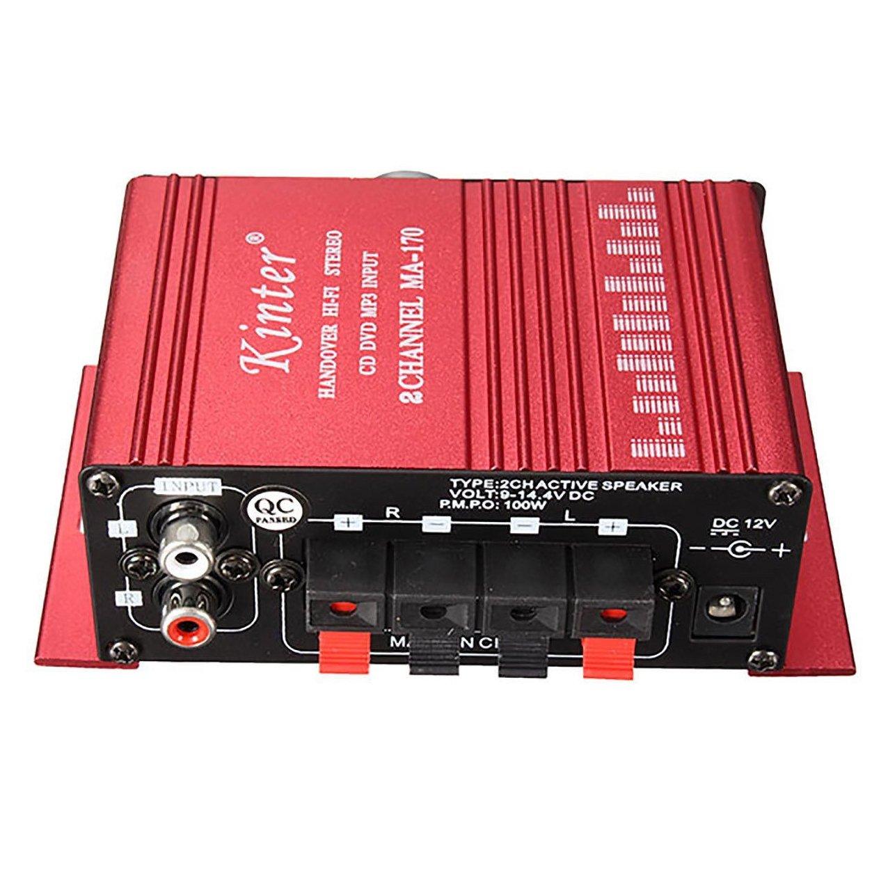 Amplificador de audio - SODIAL(R)12V Mini Hi-Fi Amplificador de audio Booster MP3 estereo para Coche Motocicleta Barco Casa: Amazon.es: Coche y moto