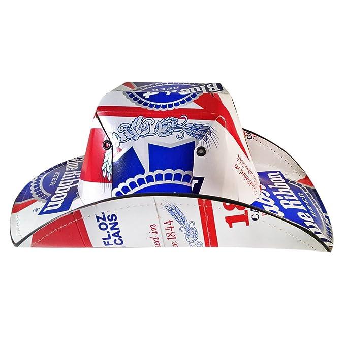 Cinta Azul De Pabst (PBR) cerveza Caja Sombrero de cowboy: Amazon ...