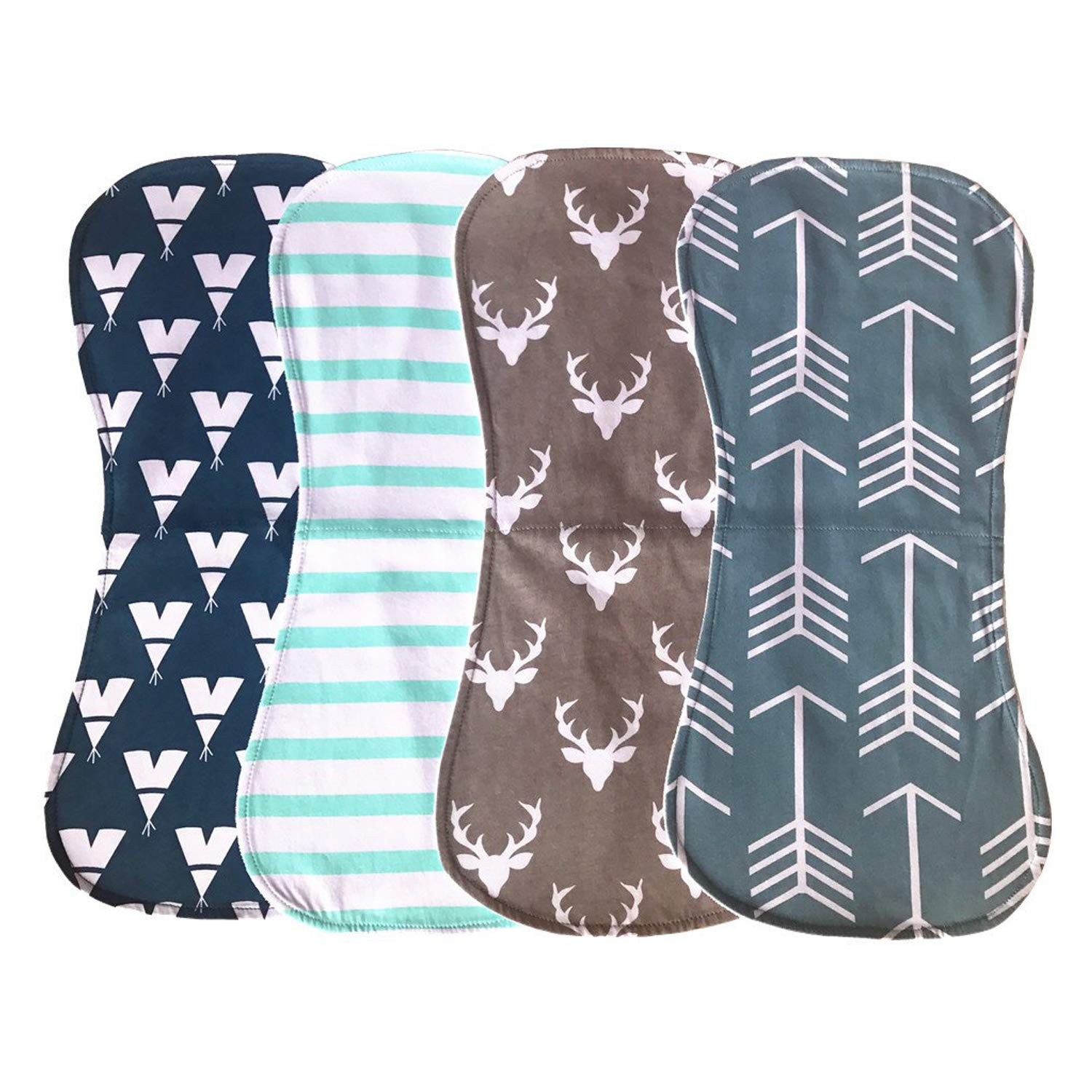 Baby Burp Pack of 4 by yizhuo,Premium Quality Unisex Boy or Girls Soft and Absorbent (Boy Baby) by Yi Zhou
