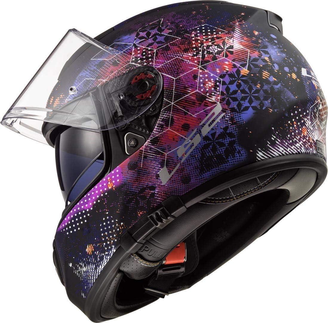 103902414XXS LS2 FF390 Breaker Rumble Motorcycle Helmet XXS White Pink