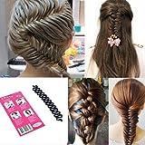 LKE lot Women Fashion Hair Styling Clip Hair Braider Twist Styling Braid Tool Magic Wonder Holder Clip DIY French (3Pcs)
