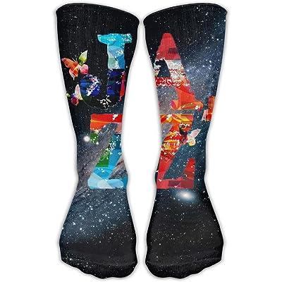 Design Jazz Typographic Music Jazz Novelty Art Knee High Socks For Women &Girl