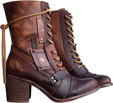 Size US 10 Vintage Leather Craft Booties