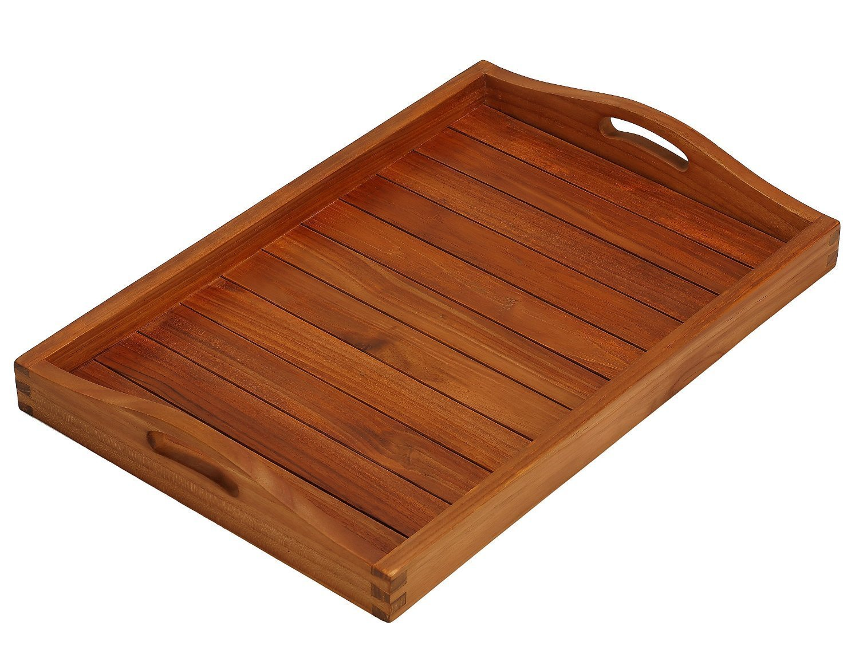 NauticalMart Home Decor Vivi Spa/Serving Tray in Solid Teak Wood