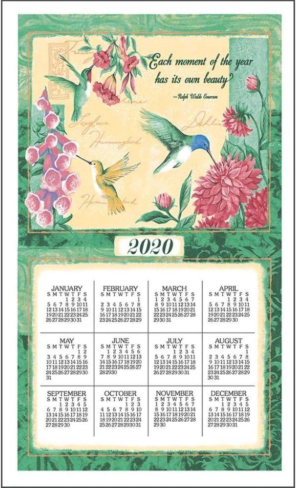 Willow Creek Press 2020 Calendars Natures Palette Calendar Towel w// Dowel /&