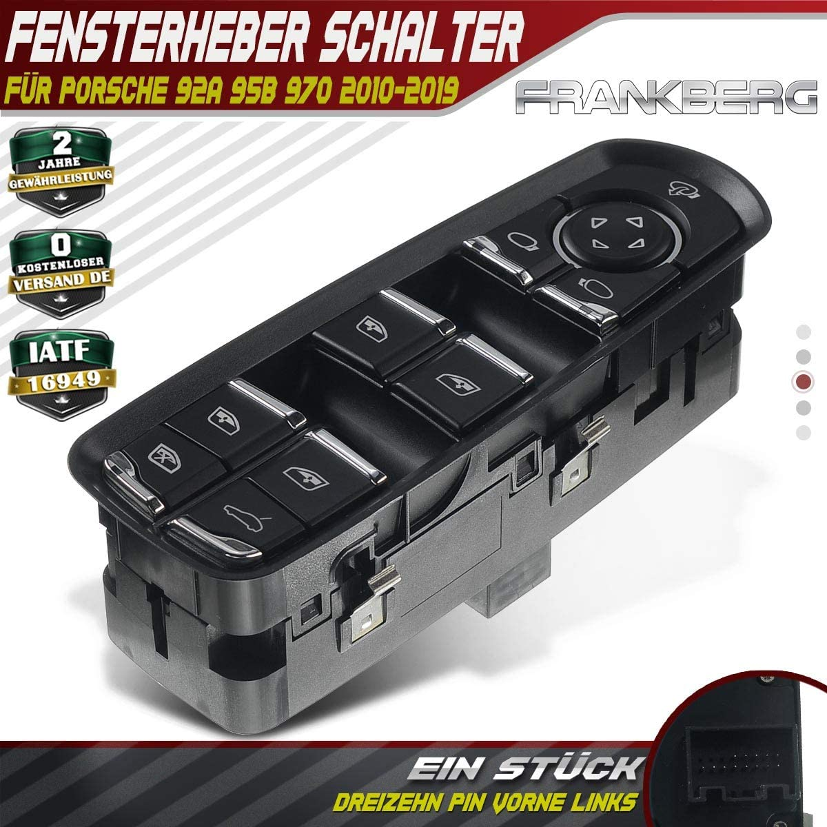 Window Regulator Switch Button Front Left For Cayenne 92a Macan 95b Panamera 970 2010 2019 7pp959858rdml Baumarkt