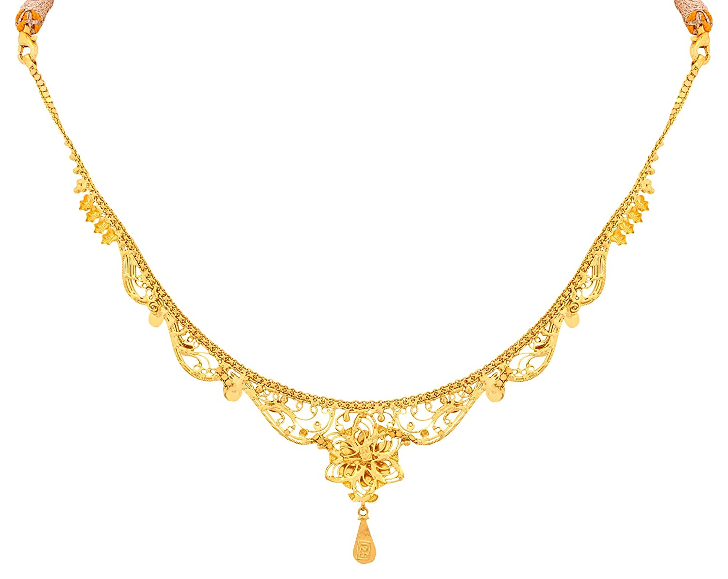 Buy Senco Gold 22k Yellow Gold Chain Necklace Online at Low Prices ...