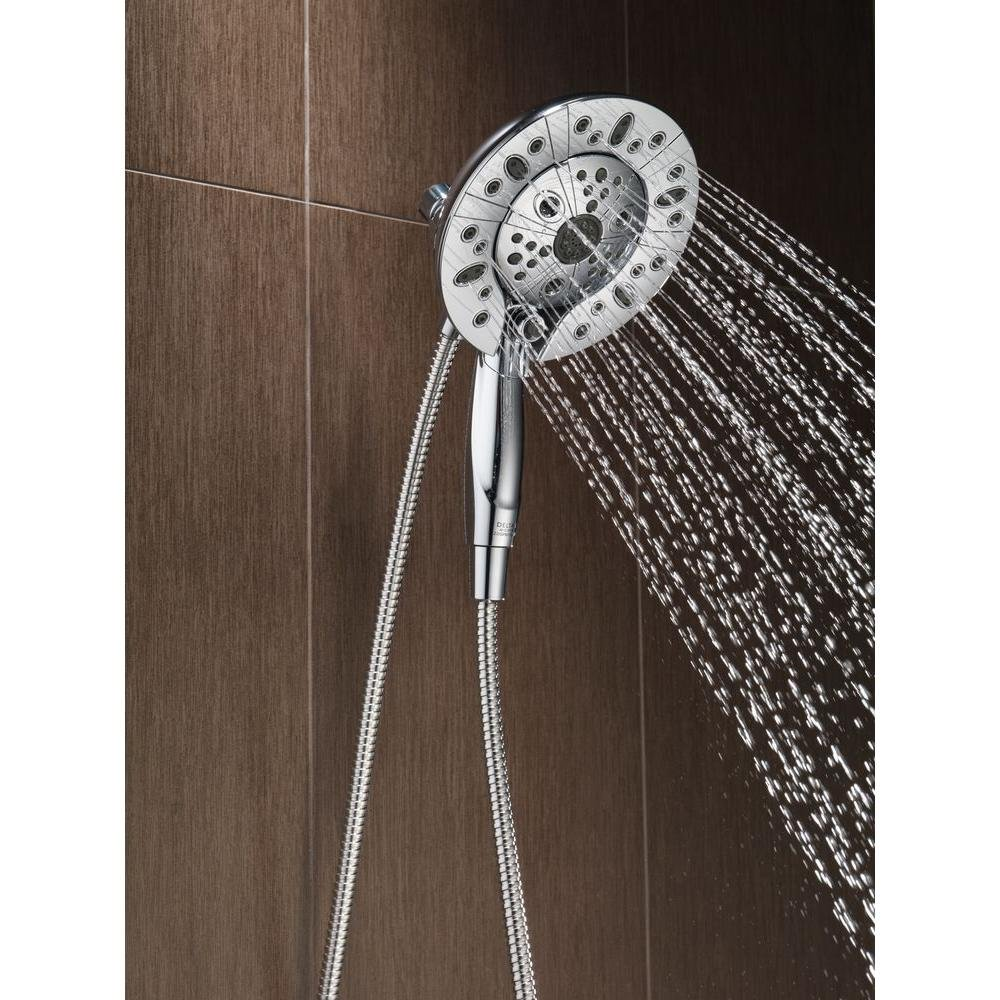 Delta In2ition Two-In-One 5-Spray Hand Shower and Showerhead Combo ...