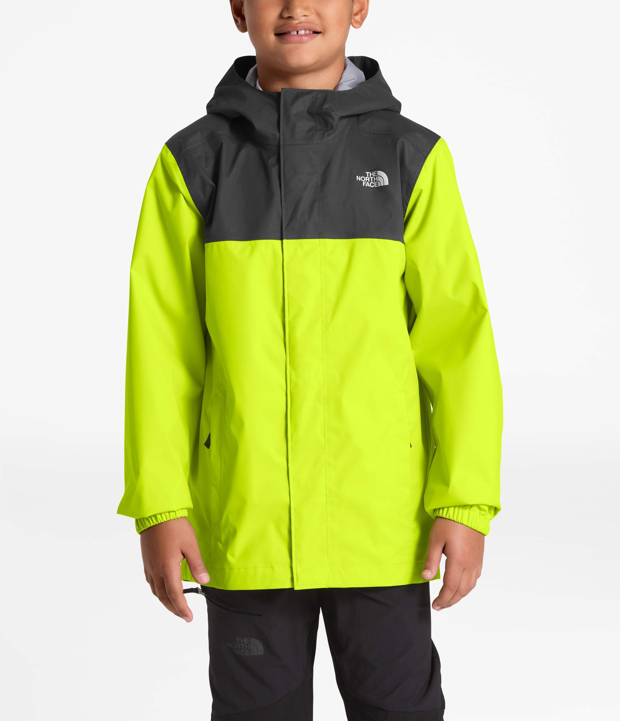 The North Face Kids Boy's Resolve Reflective Jacket (Little Kids/Big Kids) Lime Green Small by The North Face (Image #2)