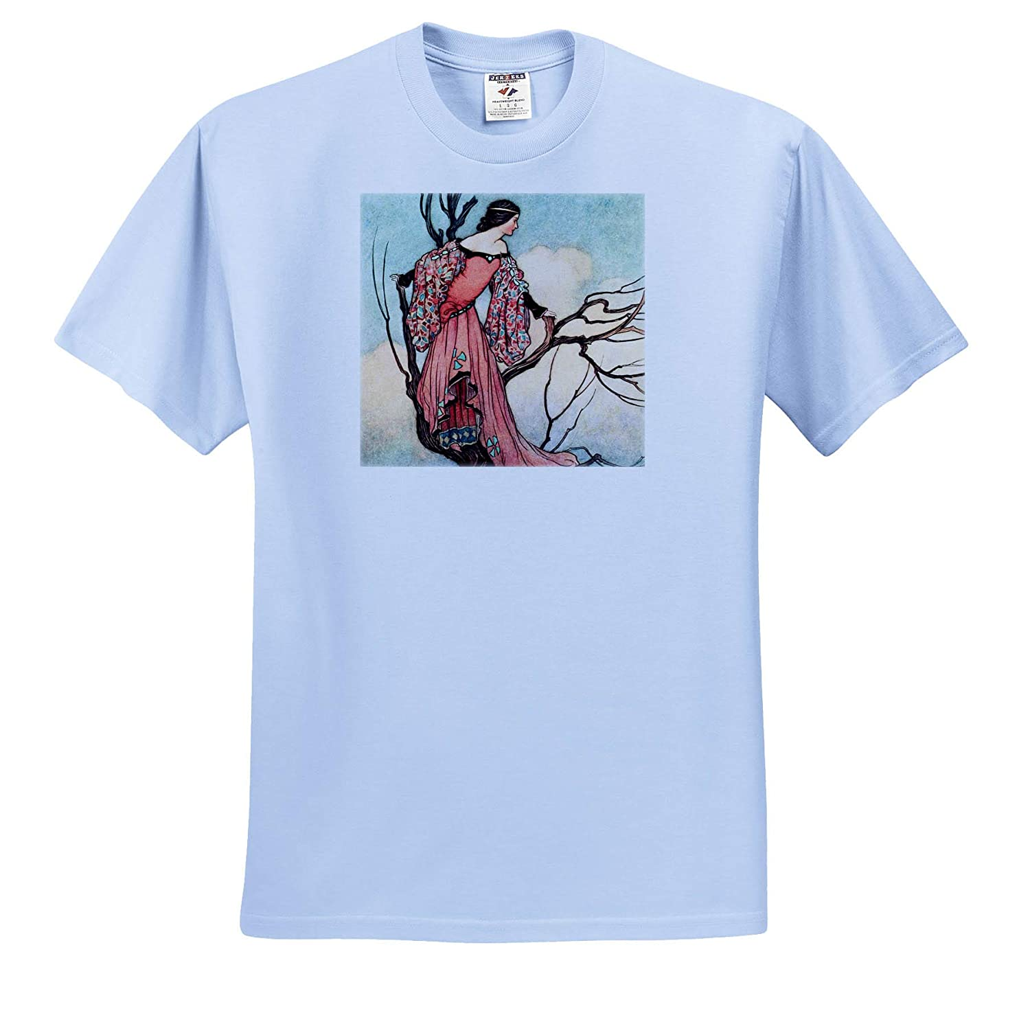 ts/_309590 Print of a Maiden on a Tree Adult T-Shirt XL Art- at Evening Tide 3dRose Made in The Highlands