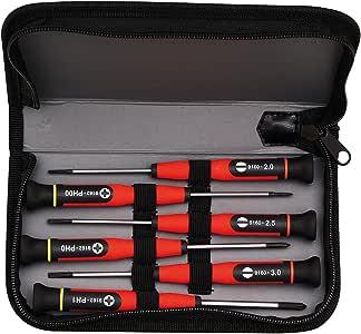 MOB Outillage 9169010001 – Estuche de 6 destornilladores de precisión: Amazon.es: Bricolaje y herramientas