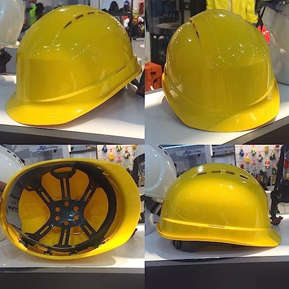 ventilado sombrero duro de construcci/ón azul arn/és de 6 puntos Silent SL1470 Casco de seguridad industrial certificado EN 397 y A1