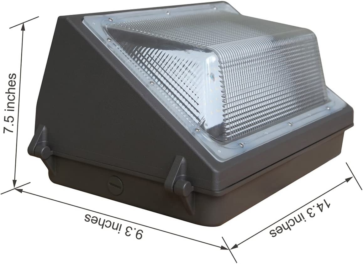 60w Led Outdoor Wall Light with 6000lm IBTLED Waterproof 60W Led Outdoor Wall Pack Light Fixture for 250W HPS//Metal Halide Lamp Replacement