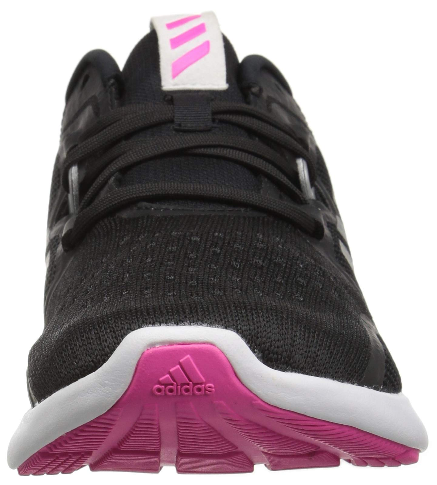 adidas Women's EdgeBounce Running Shoe, Black/Silver Metallic/Shock Pink, 5 M US by adidas (Image #4)