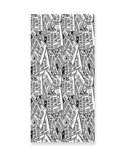 Amazon.com: Lunarable Old Newspaper Wall Art, Hand Drawn Newspapers ...