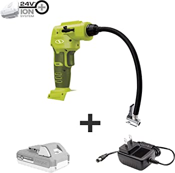 Sun Joe 24V iON+ Cordless Portable Air Compressor Kit
