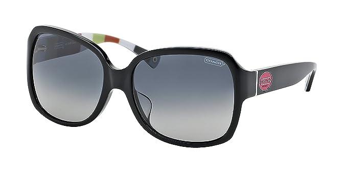 575ab85f8a80 ... switzerland coach hc8043 l037 bridget sunglasses 5211t3 black black  legacy stripe grey gradient polarized 59 16