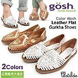 【GOSH/ゴッシュ】メキシコ製 カラーメッシュレザー フラットグルカシューズ【CLOTILDE】