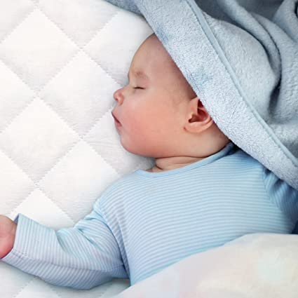 Certified Organic Cotton Waterproof Crib Mattress Pad Cover with 100% Organic Cotton Filling