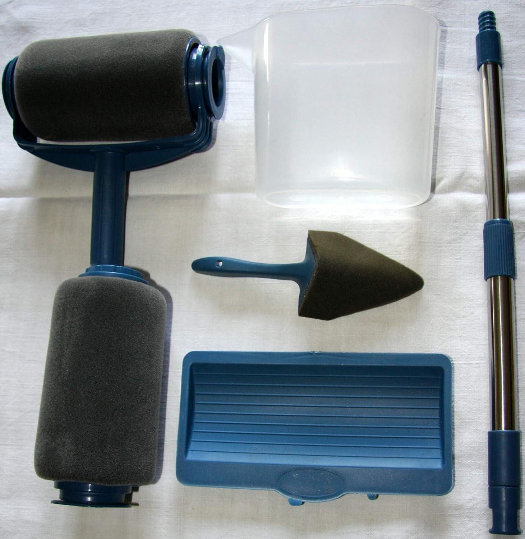 EasyULT Set de Rodillos de Pintura Multifunci/ón Profesional,juego de 9 unidades,incluye un rodillo de repuesto y pinceles para mango,para paredes en casa y en el jard/ín