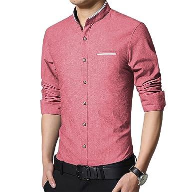 b7851723edf B dressy NEW Oxford Fashion Men Shirt Slim Fit Long Sleeve Male Social  Casual Shirts Camisa
