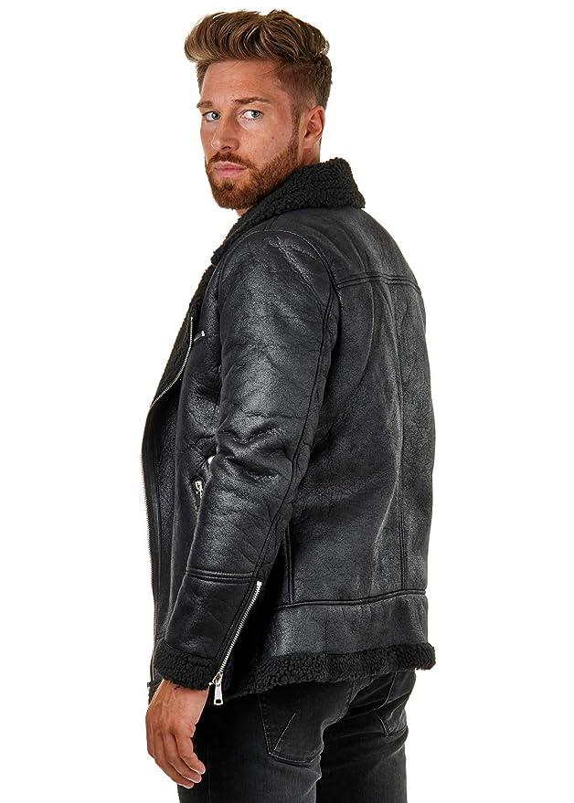Herren Shearling Suede Jacket Kunstlederjacke Eightyfive tQrxdBhCs