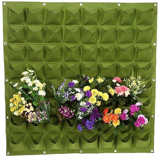 ducomi jardín Vertical – macetas de pared para decoración – porta plantas diseño Modular para Colgar en pared – Exterior E Interior – Columna de flores colgados de pared: Amazon.es: Jardín