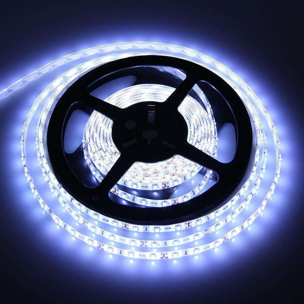 M Étanche Lumineux 5m 12V cool lumière blanc LED Bande 5050 300SMD 18lm 60smd SMD
