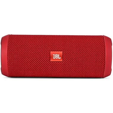 JBL Flip 3 Splashproof Portable Bluetooth Speaker (Red)