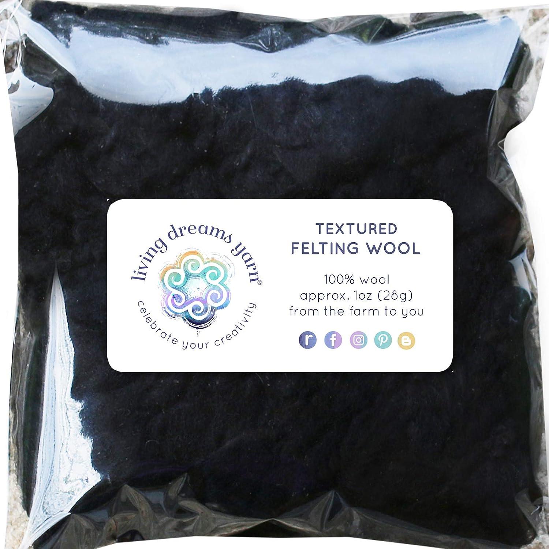 Fieltro lana con rizos de aguja de fieltro, Spinning, pelo y la ...