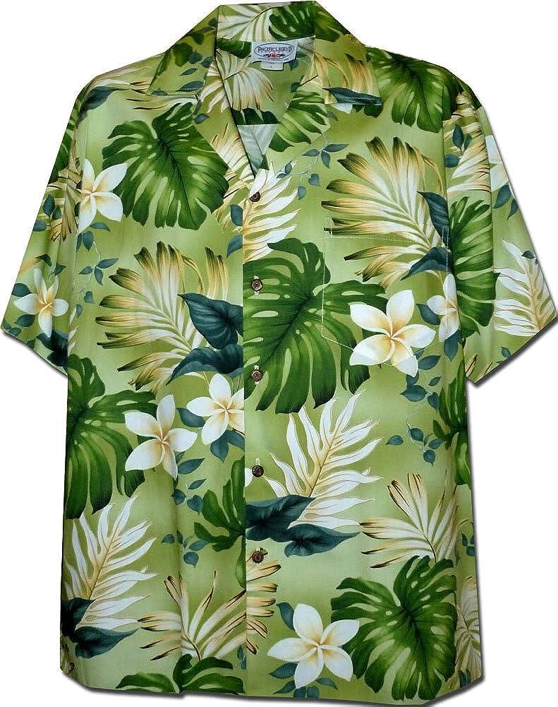 Tropical Monstera Hawaiian Shirt in Green