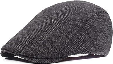 Unisex Mens Womens Stripes Visor Baker Boy Cabbie Gatsby Flat Cap Newsboy Hats