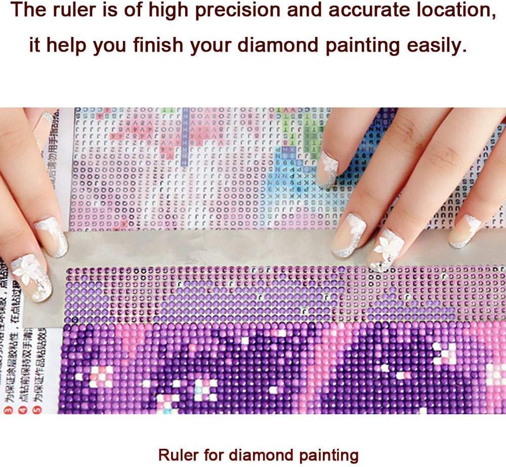 uslinsky Cuadrado//Redondo Hágalo usted mismo 5D Diamante Pintura Regla de pintura de diamante para taladros