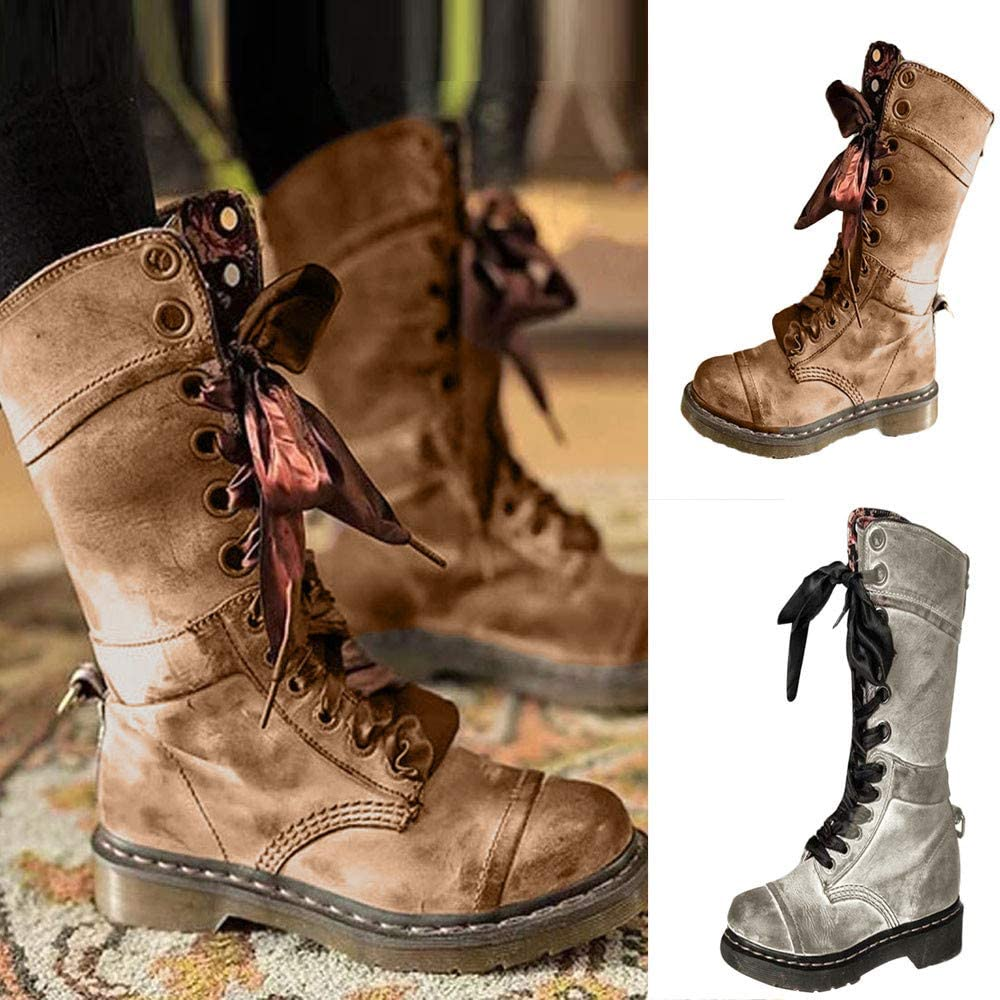 Mens Camo Snow Warm Fur Outdoor Lace Up Hiking Ankle Snow Boots Shoes Size 6.5-9