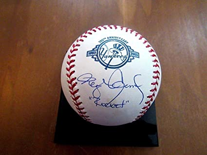 e7e5290a Image Unavailable. Image not available for. Color: Roger Clemens Autographed  Ball - Rocket 100th Anniversary Yankee - Tristar ...
