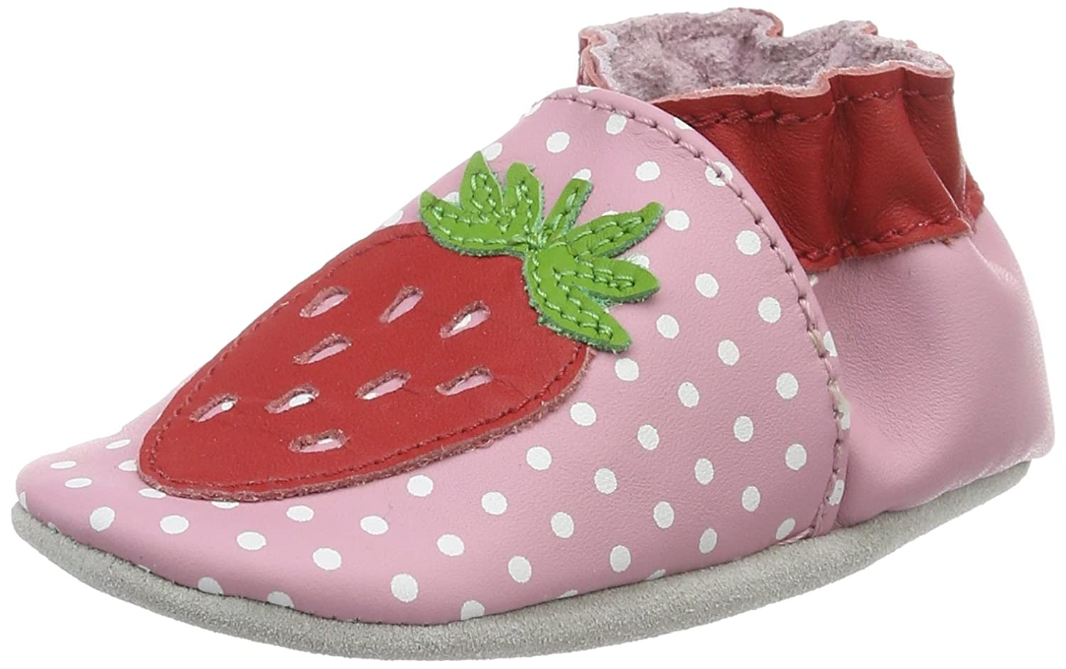 Robeez Baby Girls' Lily Fraise Slippers Red (Rose Clair 131) 17/18 17/18 EU 547610-10