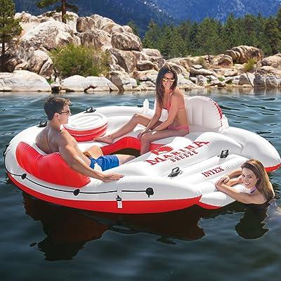 Flotador gigante para 4 personas con nevera portátil - Flotadores gigantes, el regalo estrella del verano