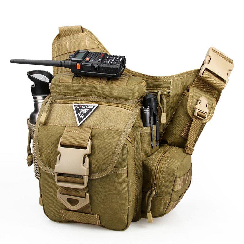Tactical Military Packバックパック1000dナイロン防水多機能カメラショルダーバッグforハンティングハイキングキャンプサイクリング  カーキ B078BNX89B