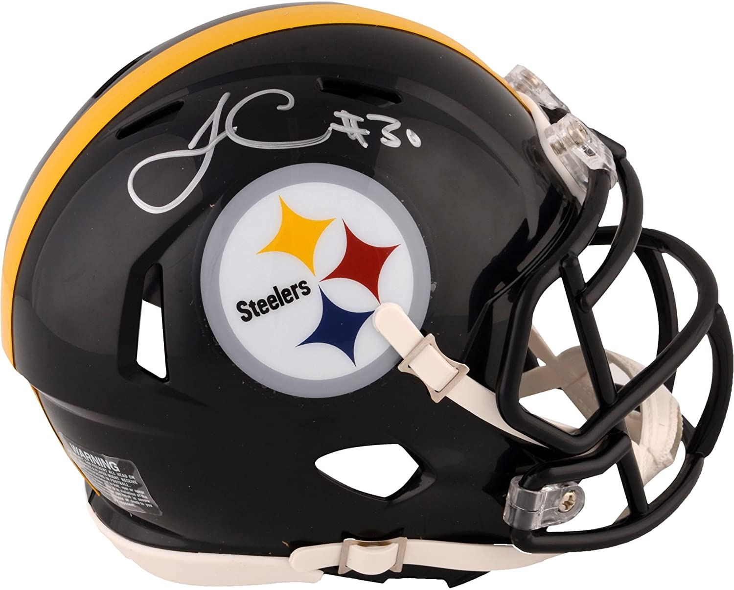 James Conner Pittsburgh Steelers Autographed Riddell Speed Mini Helmet - Fanatics Authentic Certified