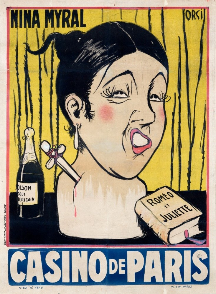 Casino de Paris – Nina Myralヴィンテージポスター(アーティスト: Orsi ) France 36 x 54 Giclee Print LANT-59060-36x54 B01M4MN2R8  36 x 54 Giclee Print