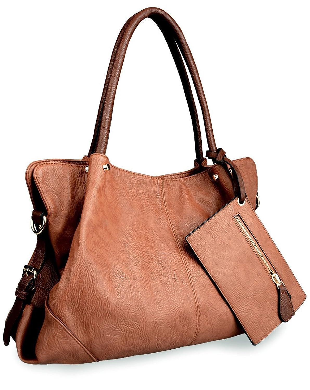 AB Earth Leatherette Women Tote Top Handle Shoulder Handbags Crossbody Bag, M898