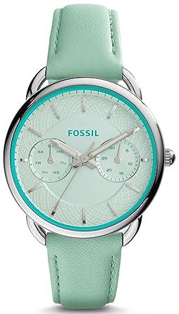 Damenuhren fossil lederarmband  Fossil ES3951 TAILOR Uhr Damenuhr Lederarmband Edelstahl 50m ...