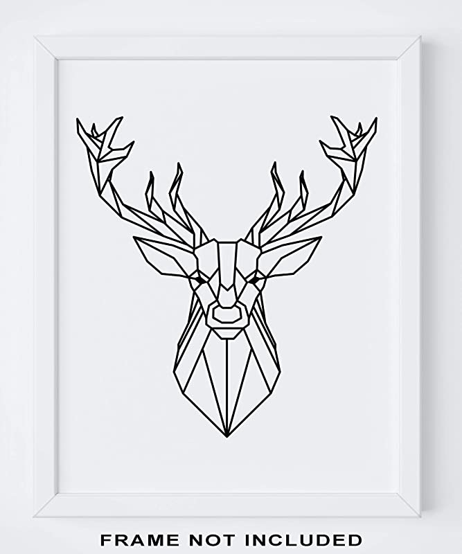 Modern Style Marble Deer Tree Abstract Canvas Poster Contemporary Wall Art Print