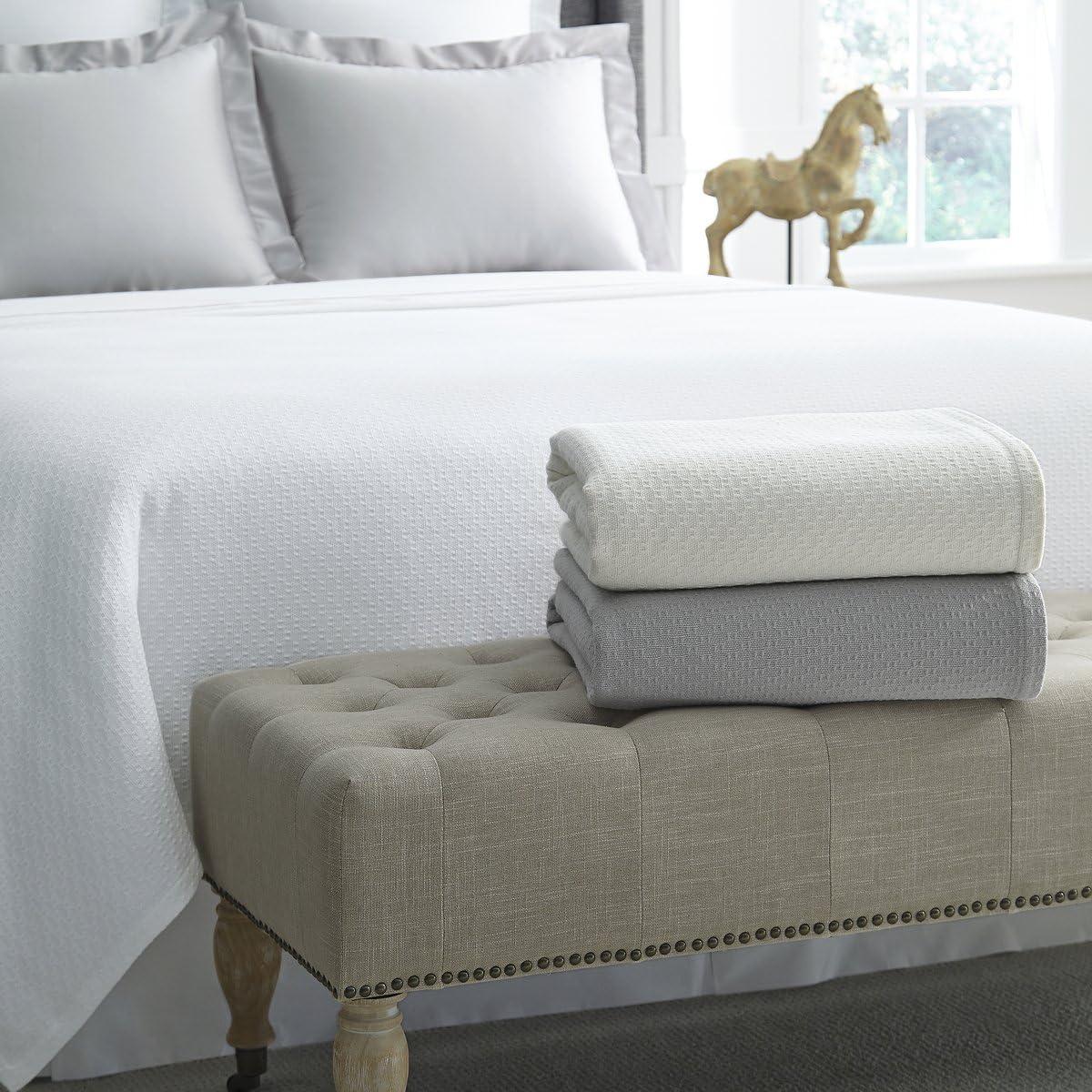 Corino Blanket by Sferra – アイボリー Full/Queen Blanket 100x100