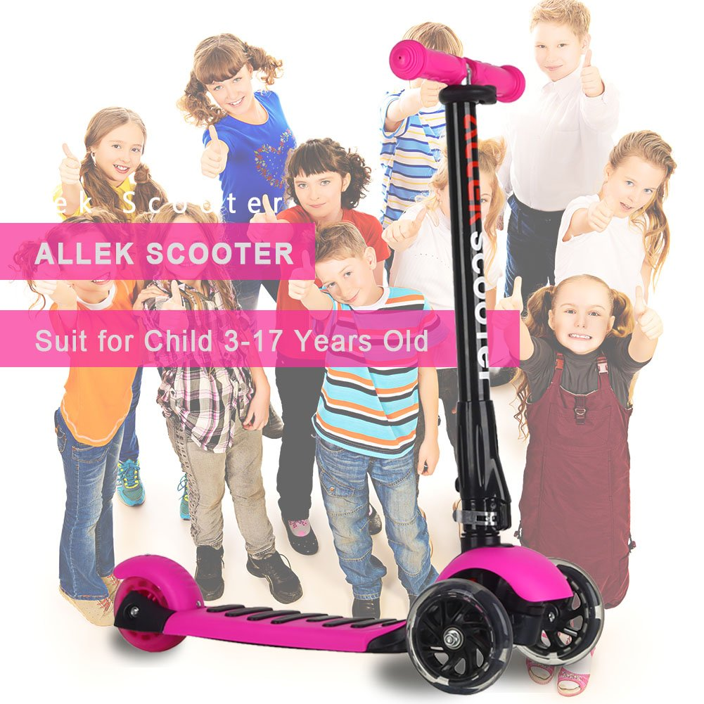 Allek Scooters for Kids, Wide Deck 3 Wheels Scooter for 3 Years and Up with T-Bar Handle 150lb Weight Limit Kick Scooter by Allek (Image #9)