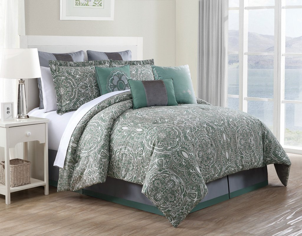 amazoncom  piece queen clara  cotton comforter set home  - amazoncom  piece queen clara  cotton comforter set home  kitchen